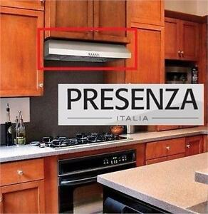 "NEW OB PRESENZA 30"" SS RANGE HOOD STAINLESS STEEL LED LIGHT UNDER CABINET HOODS KITCHEN APPLIANCE COOKING VENT 92515551"