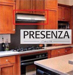 "NEW* PRESENZA RANGE HOOD 30"" UNDER CABINET - STAINLESS STEEL - LED LIGHT KITCHEN HOME APPLIANCE COOKING 92505785"