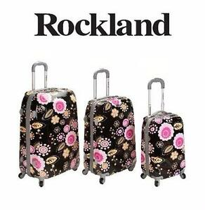 NEW ROCKLAND VISION 3 PC LUGGAGE   3 PC LUGGAGE SET SPINNER SUITCASE SET TRAVEL GEAR BAGGAGE 93413164