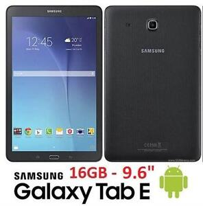 """NEW OB SAMSUNG GALAXY TAB E TABLET ANDROID TABLET 9.6"""" - BLACK - NEW OPEN BOX PRODUCT 93715656"""