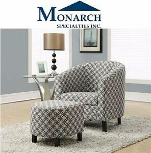 NEW* MS GREY ACCENT CHAIR SET OF 2 MONARCH SPECIALTIES SET OF TWO GREY ACCENT CHAIR HOME FURNITURE SEATING 99403784