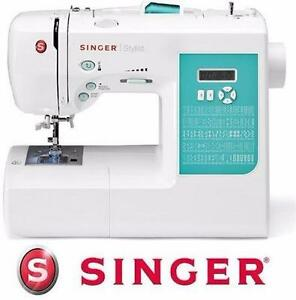 NEW SINGER STYLIST SEWING MACHINE   100-STITCH COMPUTERIZED W/ 10 PRESSER FEET & METAL FRAME CRAFTS 98668650