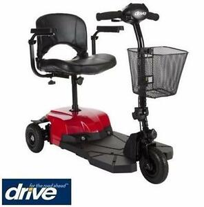 USED DRIVE 3WHEEL BOBCAT X3 SCOOTER COMPACT - POWER MOBILITY SCOOTER - 3 WHEEL - RED HEALTHCARE  DEVICE BASKET 99697038
