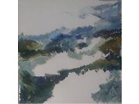Large Original Oil on Canvas Landscape 100 x 100 cm