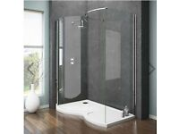 Brand New: Apollo Frameless Shower Enclosure and Tray