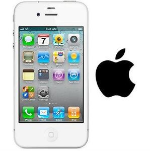 NEW APPLE IPHONE 4 8GB LOCKED WHITE - CELL PHONE - SMARTPHONE SMART PHONE