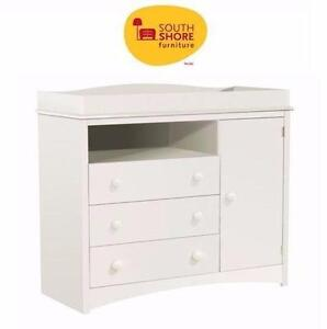 "NEW* SOUTH SHORE CHANGING TABLE  PURE WHITE FINISH - 47""L X 20""W X 41""H BABY HOME FURNITURE NURSERY 92595524"