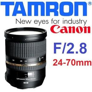 RFB TAMRON SP 24-70MM LENS CANON A007 198030297 DI VC USD CANON MOUNT F/2.8  - REFURBISHED