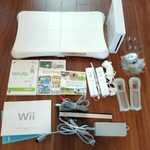 Console Wii + Wii balance fit