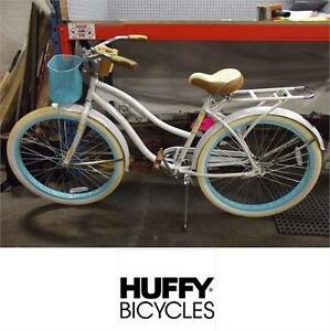 """NEW HUFFY NEL LUSSO CRUISER 26"""" BICYCLE - BIKE - WHITE - WOMEN'S - COASTER RIDING CYCLING RECREATION SPORTS"""