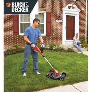 USED TRIMMER EDGER LAWN MOWER MTC220 187901996 BLACK AND DECKER Max Lithium-Ion Electric Cordless 3-in-1 LAWNMOWER
