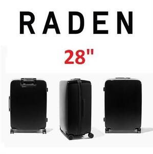 "NEW* RADEN SMART LUGGAGE W/BATTERY - 125034293 - SPINNER SUITCASE WEIGH LOCATE AND CHARGE 28""x21""x13"" HUNTER GREEN"