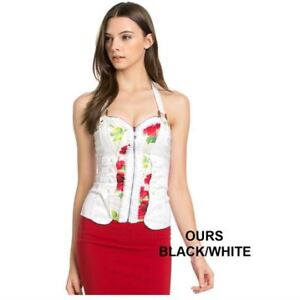 NEW OH YES TOPS WOMEN'S LARGE-White/Black