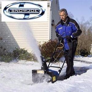 "19"" W cut Snow Joe  Electric Instant start Snow Thrower 14 AMP Motor  Removes 800 lbs snow /mts"
