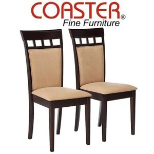 2 NEW COASTER SIDE DINING CHAIRS