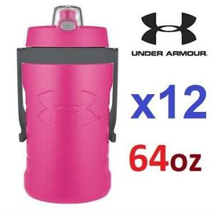 12 NEW UA INSULATED BOTTLE 64oz 1261299-652 238037199 UNDER ARMOUR REBEL HYDRATION PINK SPORTS FITNESS FOAM