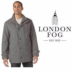 NEW LONDON FOG COAT MEN'S SM   NEW CHARCOAL - JACKET  DRESS FORMAL CASUAL APPAREL OUTDOOR  84058545