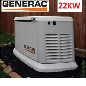 NEW GENERAC  22KW STANDBY GENERATOR 7043 198622104 22000W LP 19500NG AIR COOLED