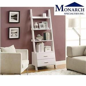 NEW MONARCH LADDER BOOKCASE 69'' HIGH WITH 2 STORAGE DRAWERS HOME LIVING ROOM DECOR FURNITURE SHELVING UNIT 97984160