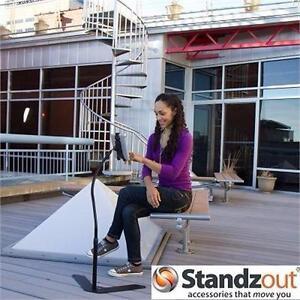 NEW STANDZOUT TABLET FLOOR STAND   48'' - STANDZFREE - BLACK - UNIVERSAL COMPUTER ACCESSORIES ELECTRONICS 92537098