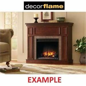 "NEW DECOR FLAME ELECTRIC FIREPLACE   WITH 44"" MANTEL - 44 INCH - HOME LIVING ROOM FIRE HEATER DECOR"