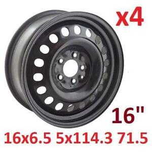 """4 NEW* 16x6.5 STEEL TIRE RIMS 16"""" X99128N 144454779 16x6.5 5x114.3,C71.5 AUTOMOTIVE TIRE WHEELS 5 BOLT"""