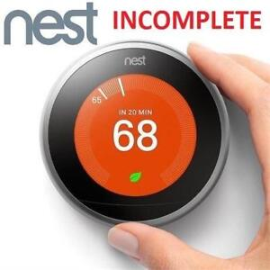 REFURB* NEST LEARNING THERMOSTAT 127295736 3RD GENERATION HEATING VENTING COOLING HOME