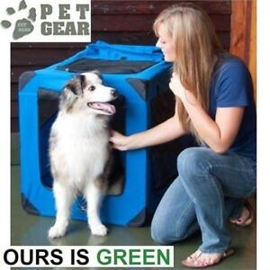 NEW PET GEAR PORTABLE SOFT CRATE PG5542MG 229451963 42''x 28''x 31''FOR CAT AND DOG 90LB IN MOSS GREEN