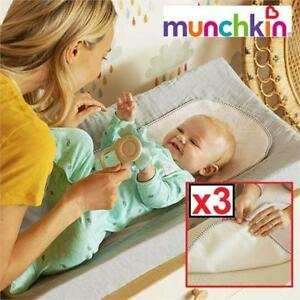 NEW 3PK MUNCHKIN CHANGING PAD LINER 224508508 WATERPROOF