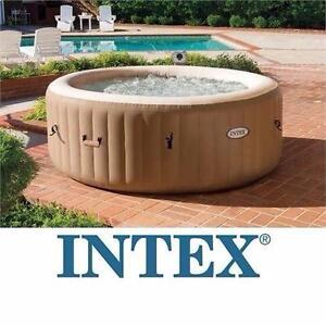 NEW INTEX PURESPA PORTABLE SPA   77 INCHES - ROUND SPA - BUBBLE MASSAGE - FIBER TECH CONSTRUCTION OUTDOOR TUB 96921409
