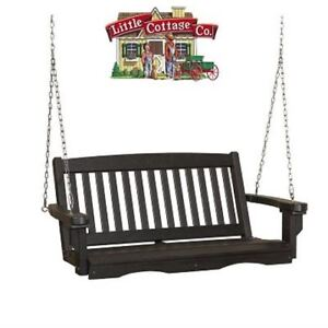 NEW CLASSIC MISSION PORCH SWING by LITTLE COTTAGE
