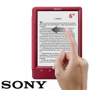 "RFB SONY DIGITAL EBOOK READER 6"" PRS-T3SRC 230089300 1.3GB E-INK TOUCHSCREEN WIFI EREADER TABLET RED REFURBISHED"