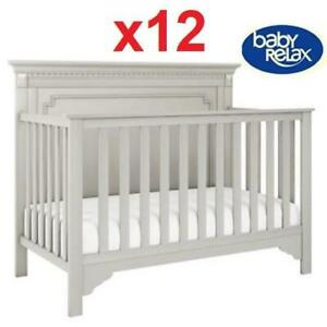 12 NEW BABY EDGEMONT BABY CRIB 235308093 RELAX CONVERTIBLE 5 IN 1 SOFT GRAY DAYBED FULL SIZE BED