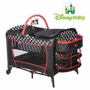 NEW DISNEY BABY MICKEY PLAYARD   BABY SWEET WONDER PLAYARD - MICKEY SILHOUETTE PLAYPEN BABY NURSERY 98776970