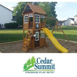 NEW* CEDAR SUMMIT MCKINLEY PLAYSET WOODEN PLAYSET - PLAYGROUND - PLAYSET SWINGS SLIDE SLIDES PLAYGROUNDS KIDS PARK