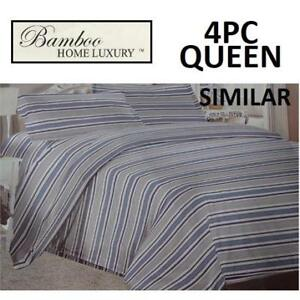 NEW BAMBOO 4PC BED SHEET SET QUEEN HAPS3500Q 225018895 HOME LUXURY 3500 THREAD COUNTS WRINKLE FREE BEDDING BEDROOM