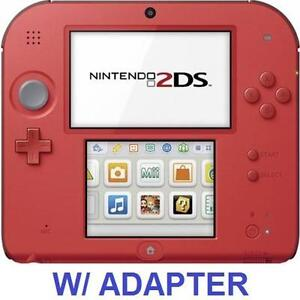 NEW OB NINTENDO 2DS GAME SYSTEM - 111984316 - HANDHELD GAME CONSOLE SYSTEM RED - NEW OPEN BOX PRODUCT