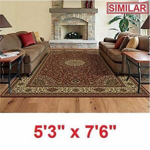 "NEW SPRINGS HOME CATHERINE AREA RUG   7'6"" x 5'3"" - AREA RUGS CARPET  FLOORING DECOR ACCENTS PAD PADS MAT MATS 96550815"