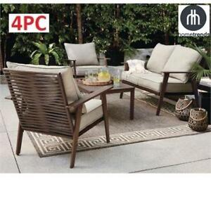 USED* HOMETRENDS 4PC PATIO SET LG-H8177-4PC 209637525 CONVERSATION FLORENCE