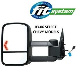 NEW DRIVERS SIDE DUAL TOWING MIRROR 62076G 210336459 FIT SYSTEM 62076G 2007 Chevy/ Silverado/Sierra CLASSIC style WIT...