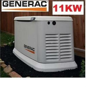 NEW* GENERAC 11KW STANDBY GENERATOR 7032 211243002 AIR COOLED STANDBY