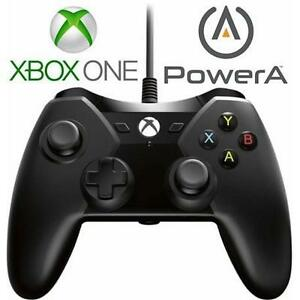 USED XBOX ONE POWERA CONTROLLER - 108951815 - WIRED BLACK VIDEO GAMES