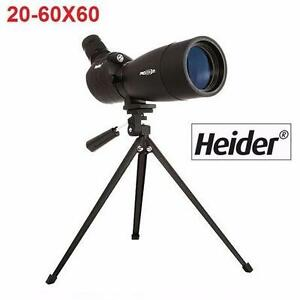 NEW HEIDER PRO ZOOM TELESCOPE PRO ZOOM X1 LAND TELESCOPE W/ TRIPOD - 20-60x60    90552331