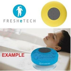 NEW FRESHETECH WATERPROOF SPEAKER SPLASH TUNES BLUETOOTH WATERPROOF SHOWER SPEAKER- YELLOW 98760506