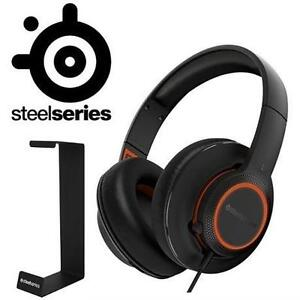 NEW STEELSERIES HEADSET W/ STAND HEADPHONES + HEADSET STAND 106920452