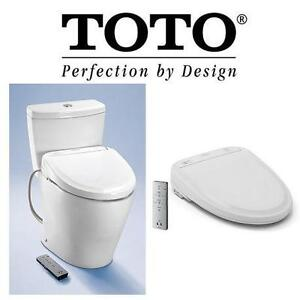 NEW TOTO WASHLET TOILET SEAT - 122706091 - BIDET HEATED W/ EWATER PLUS