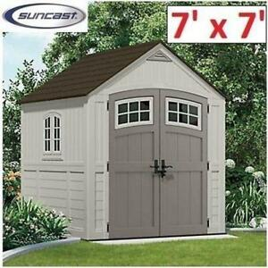 NEW* SUNCAST STORAGE SHED 7'x7' BMS7790 212099025 322 cubic feet capacity