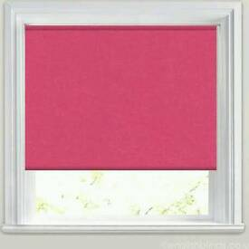 Cerise pink blackout blind