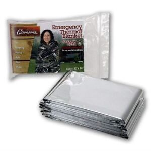 "NEW- EMERGENCY THERMAL BLANKETS - GRIZZLY GEAR - FOLDS TO 52"" X"