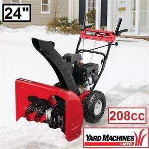 """NEW* 24"""" YARD MACHINES SNOW BLOWER 31AS63EE752 142326055 208cc Two-Stage Snow THROWER - SNOW REMOVAL SNOWBLOWER BLOWE..."""